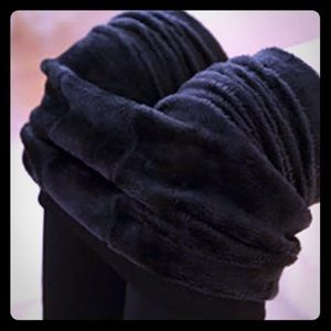 Accessories - Black Fleece Lined Warm Full Footed Tights 2/$30